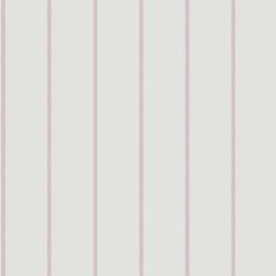 Papier peint ALICE et PAUL à rayures pois violet - Casadeco