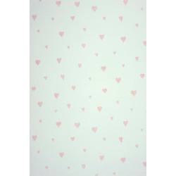 Papier peint Coeur rose irisé - ALICE ET PAUL - Casadeco - AEP28024421
