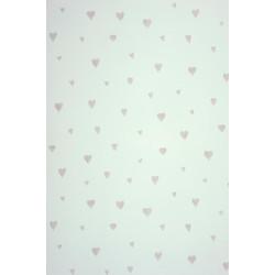 Papier peint Coeur gris mat - ALICE ET PAUL - Casadeco - AEP28029218