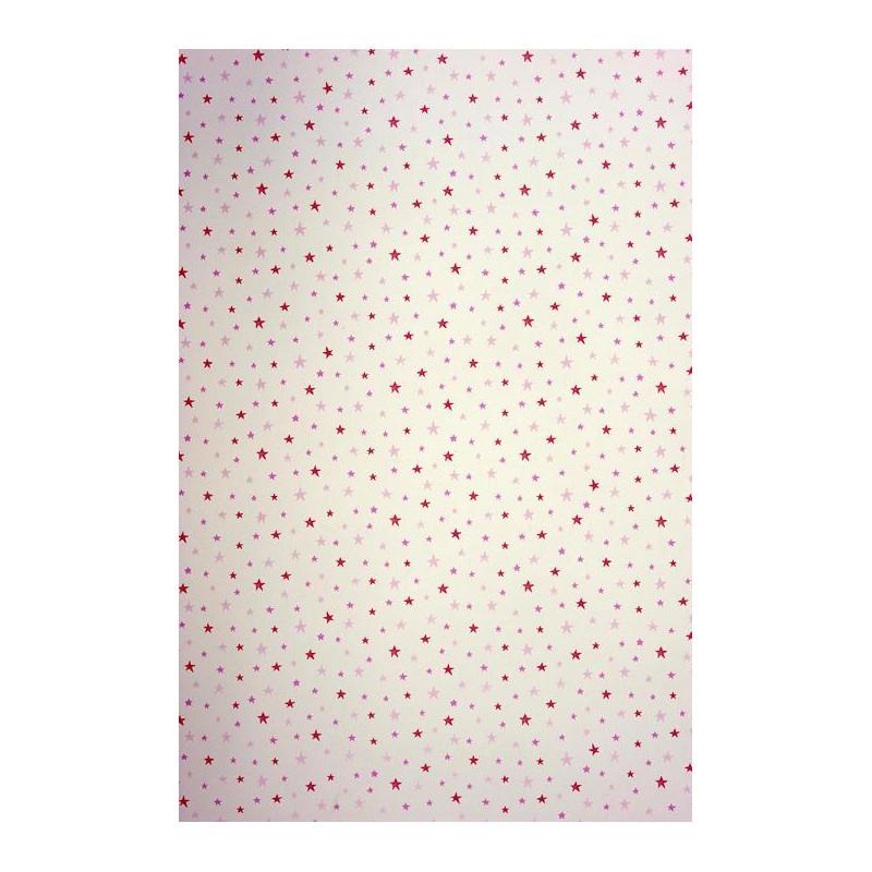 Papier peint ALICE et PAUL à motif étoiles rose irisé - Casadeco