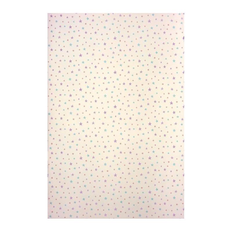 Papier peint ALICE et PAUL à motif étoiles violet - Casadeco