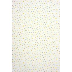 Papier peint ALICE et PAUL à motif étoiles bleu - Casadeco