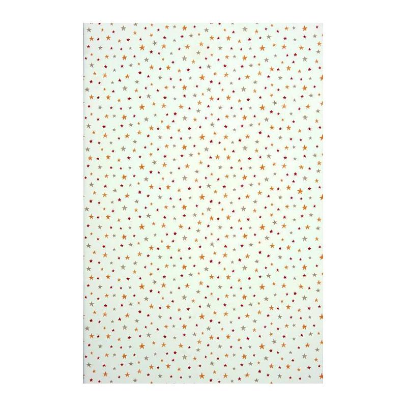 Papier peint ALICE et PAUL à motif étoiles rouge - Casadeco