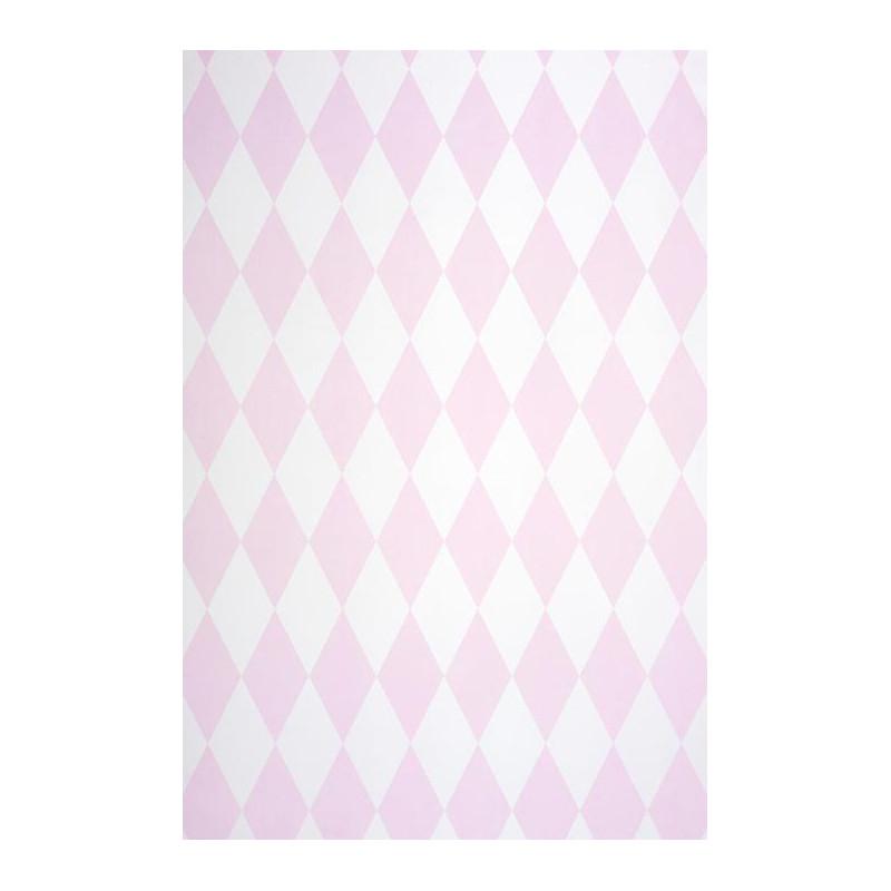 Papier peint Cirque Losange rose irisé - ALICE ET PAUL - Casadeco AEP28109207