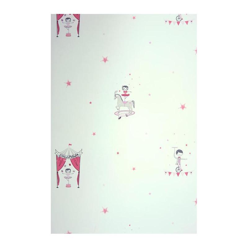 Papier peint Cirque rose irisé - ALICE ET PAUL - Casadeco AEP28114435