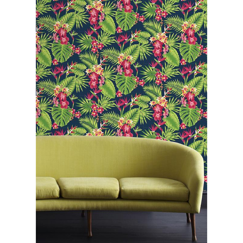 papier peint tropical fever multico vert et rose graham. Black Bedroom Furniture Sets. Home Design Ideas