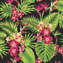 Papier peint Tropical Fever Multico, vert et rose. Graham & Brown