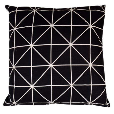 Coussin Origami Noir Scandinave - Art of Life