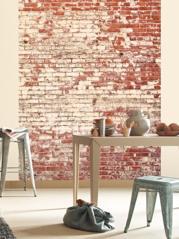 Poster panoramique briques caselio for Moquette grise texture