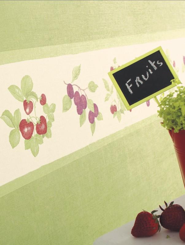Frise papier peint motif fruits cavaillon caselio for Moquette grise texture